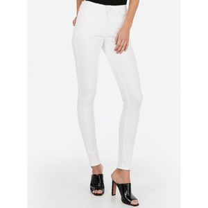 Express High waisted denim white skinny jeans NWT